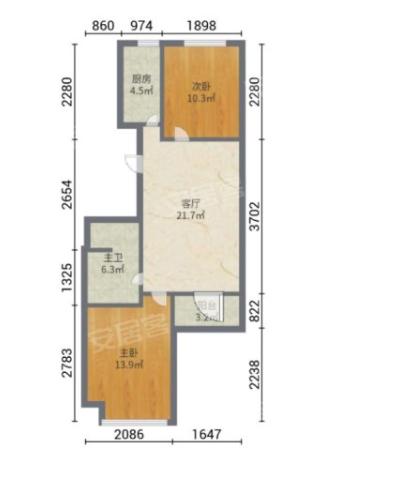 水木菁华 85平100万 房本满二 随变装修