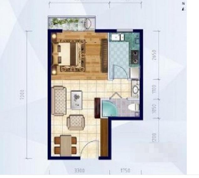 一居室出租,家具家电全齐,随时看房,随时签约